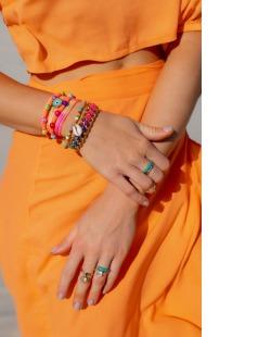 Kit 2 pulseiras laranja Dalila